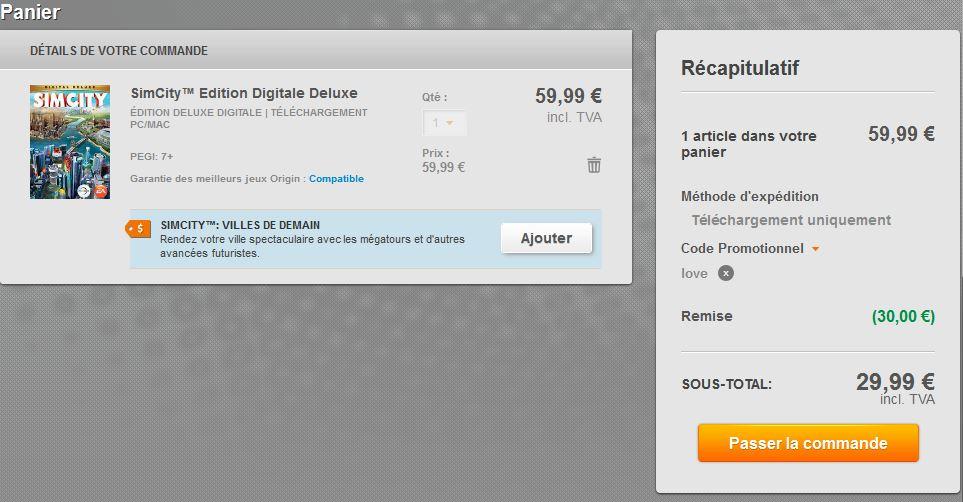 panier-sim-city-code-promo-50-pour-cent